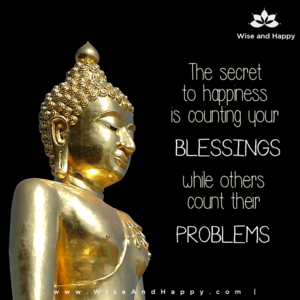 The secret to happiness is counting your blessings while others count their problems.